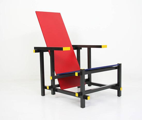 chaise rouge et bleue. Black Bedroom Furniture Sets. Home Design Ideas