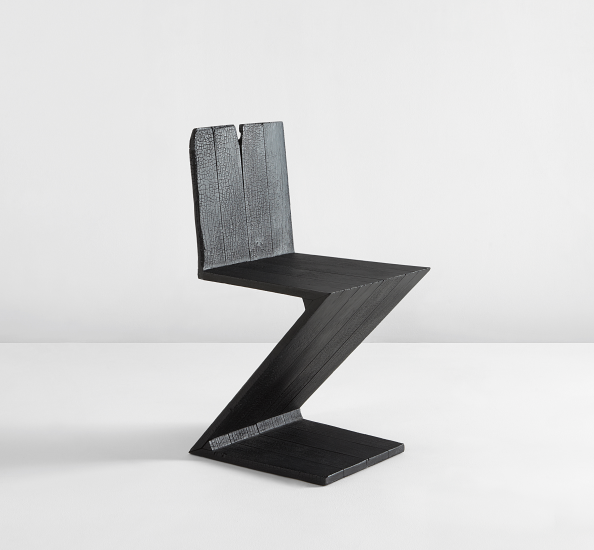 chaise zig zag. Black Bedroom Furniture Sets. Home Design Ideas