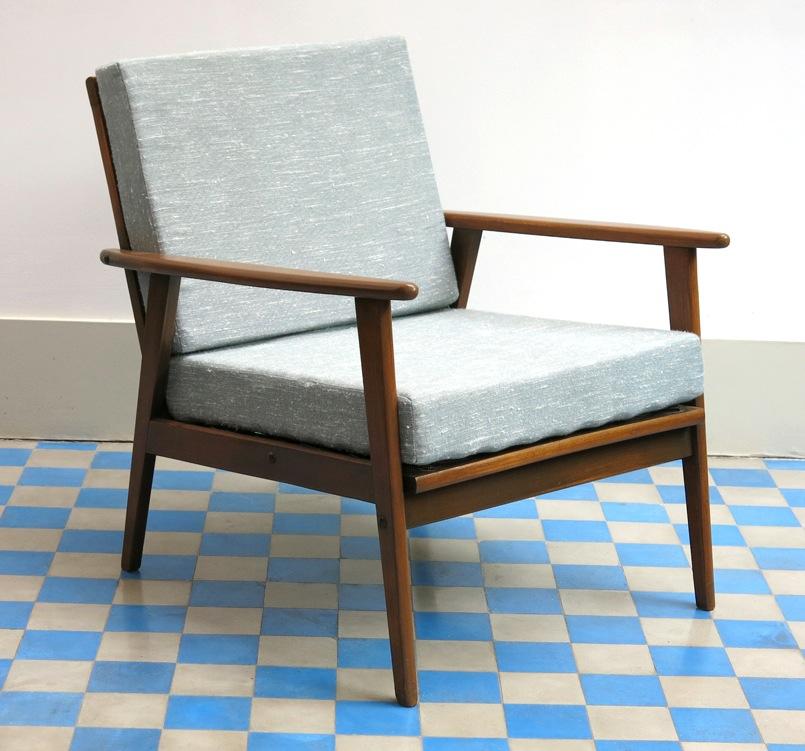 fauteuil scandinave 1960. Black Bedroom Furniture Sets. Home Design Ideas