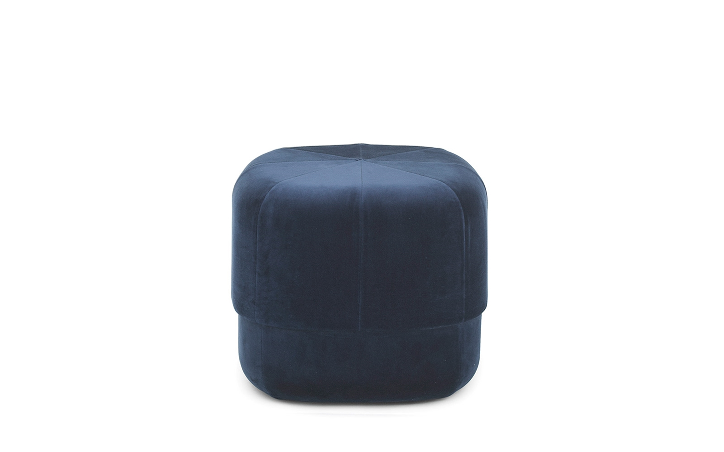 pouf circus velours bleu nuit. Black Bedroom Furniture Sets. Home Design Ideas