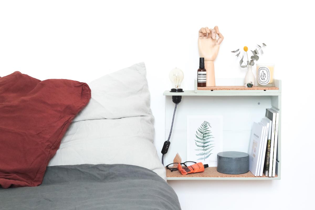 table de chevet lumineuse. Black Bedroom Furniture Sets. Home Design Ideas
